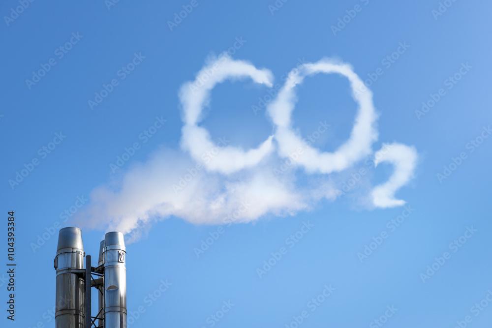 Fototapeta CO2 in the clouds