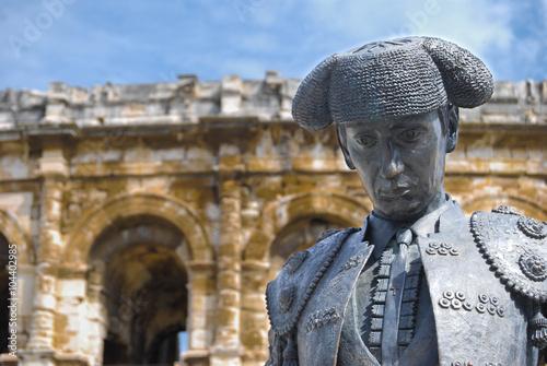 Foto op Canvas Stierenvechten Arènes de Nîmes, France.