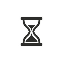 Hourglass - Vector Icon.