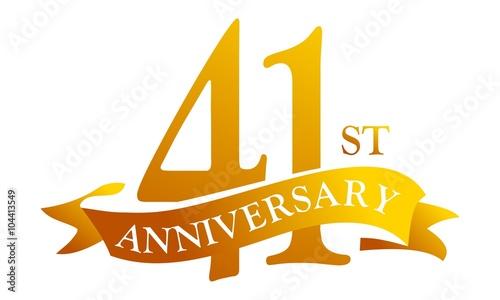 Fotografia  41 Year Ribbon Anniversary