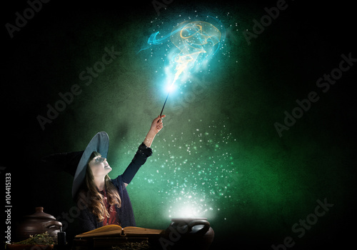 Fotografie, Obraz  Little witch