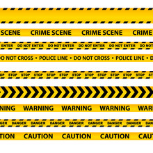 Vector Set Of Seamless Caution...