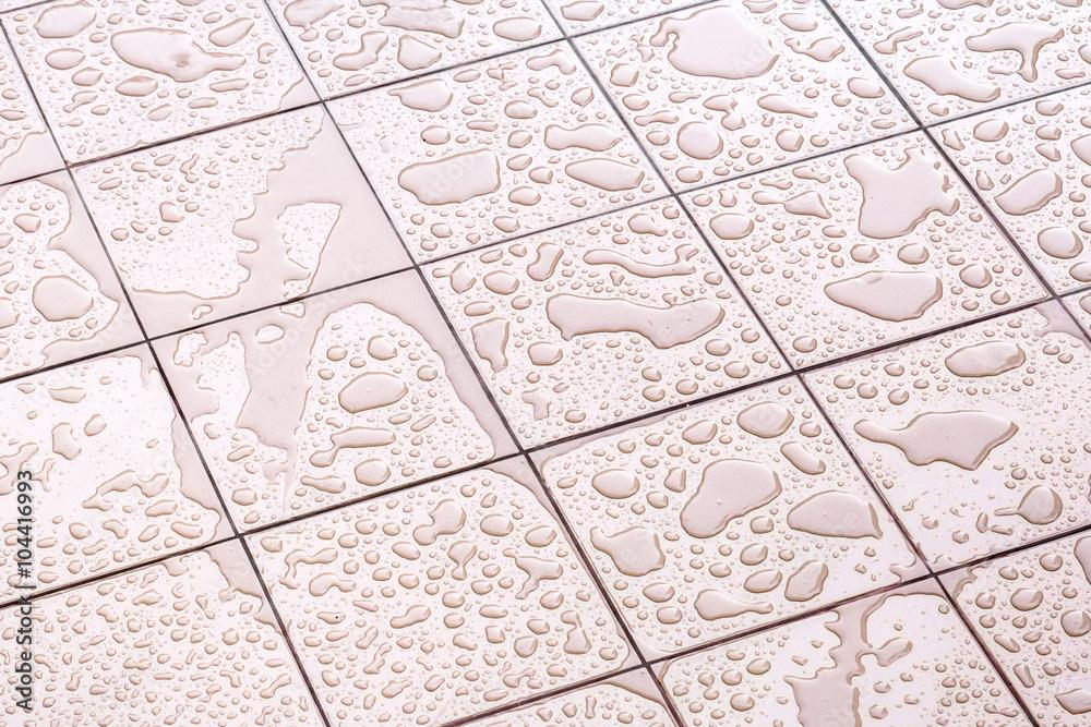 Fototapety, obrazy: Wet Floor Square Tile