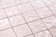 Leinwanddruck Bild - Wet Floor Square Tile