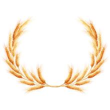 Wheat Ears Wreath. EPS 10