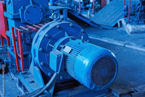 Fotografie, Tablou Electric actuator for industrial mill in workshop