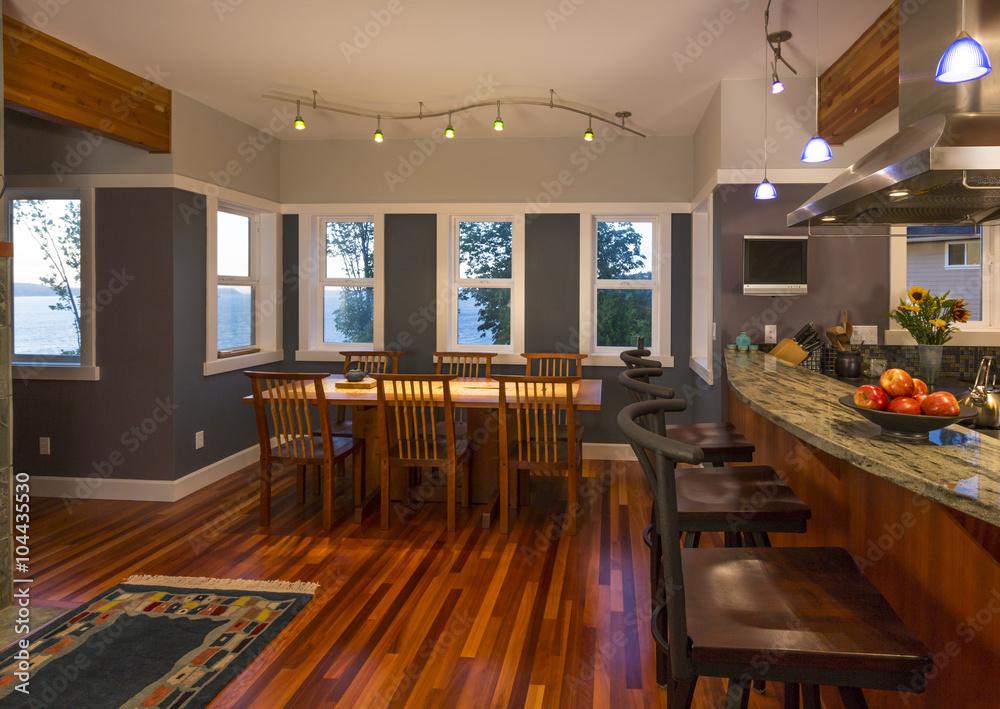 Stühle Für Küchentheke küche theke und essbereich tisch und stühle mit holzböden, granit