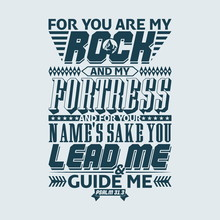 Bible Typographic. For You Are...