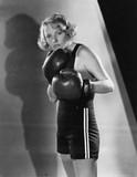 Portret kobiety boksera - 104444919
