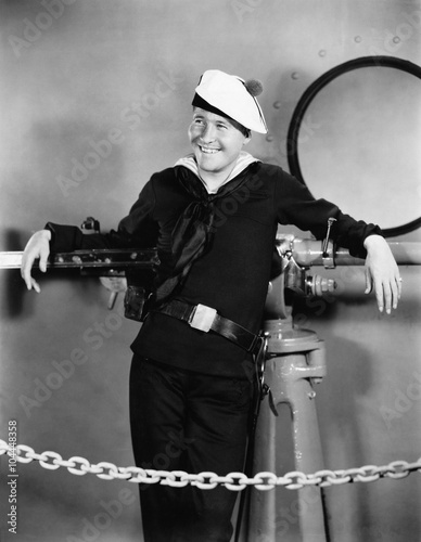 Photo  Portrait of happy sailor