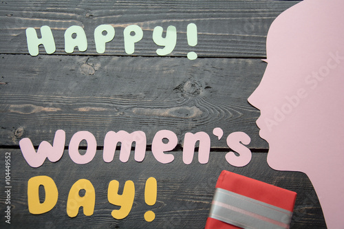 Happy Women S Day Celebrations Concept With Stylish Text Laid Out