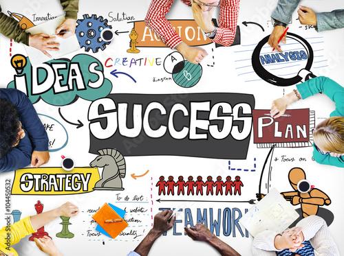 Poster de jardin Route Success Improvement Achievement Goal Aim Concept