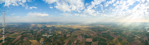 Photo sur Aluminium Cappuccino panoramic landscape taken from 400 feet above ground with a mul