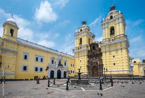 Photo Stands South America Country Convento de San Francisco or Saint Francis Monastery, Lima, Peru