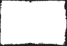 Vector Grunge Black Frame With...