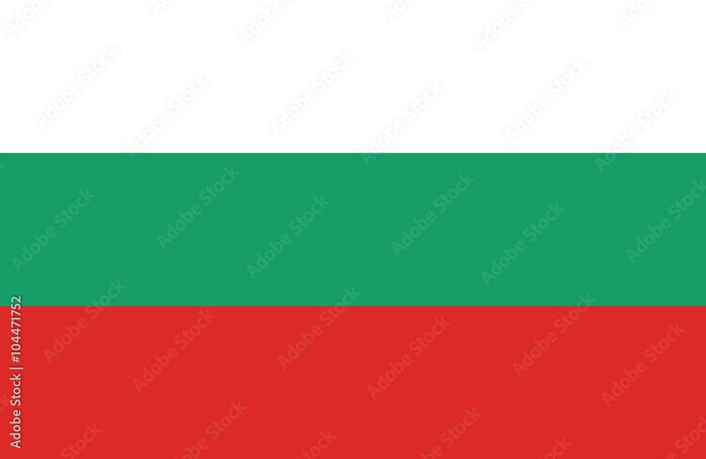 Fototapety, obrazy: Bulgarian flag.