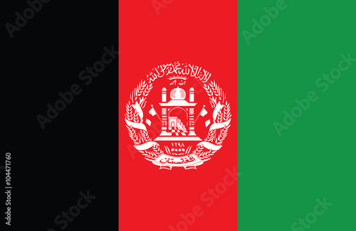 Afghanistan flag Wallpaper Mural