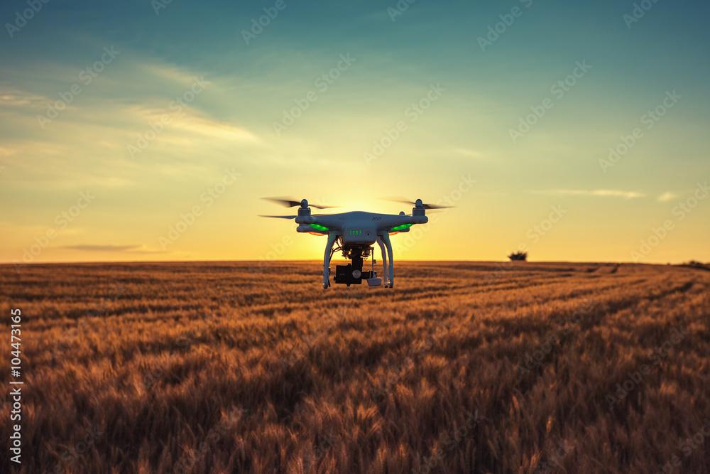 Fototapety, obrazy: Varna, Bulgaria - June 23 ,2015: Flying drone quadcopter Dji Pha