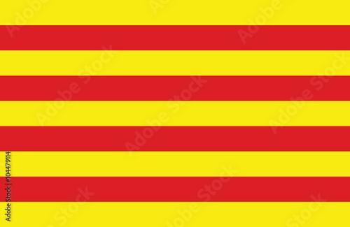 Catalonian flag. Canvas Print