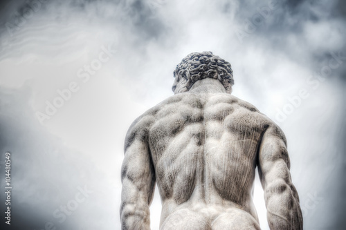 Foto  Herkules-Statue auf der Piazza della Signoria