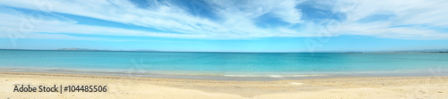 Tuinposter Strand Panoramic view of Fiume Santo beach