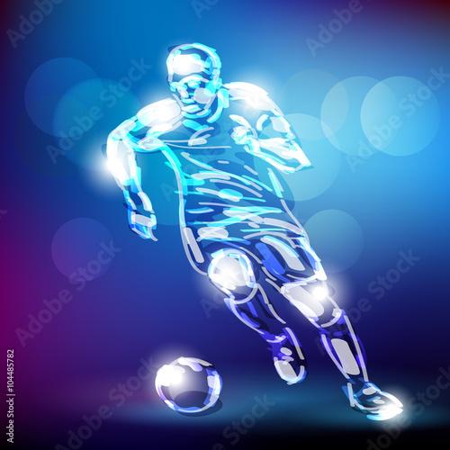 Fototapeta piłka nożna wektor obraz