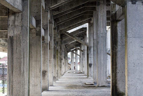 Foto op Plexiglas Stadion White Aisle