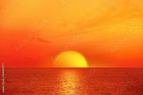 In de dag Zonsondergang Sonnenaufgang