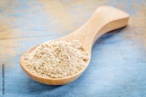 Recess Fitting Baobab maca root powder on wooden spoon