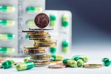 Euro Money And Medicaments. Eu...