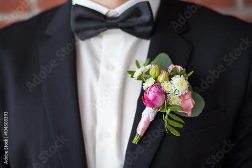 Fotografija Close up of  white and pink rose corsage