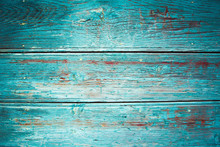 Textured Old Wooden Turquoise