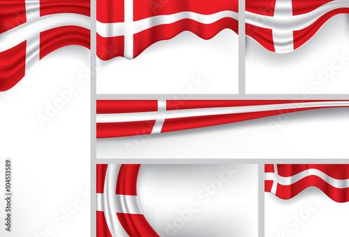 Abstract Denmark Flag, danish Colors (Vector Art) Poster