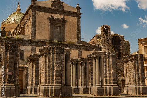 Adrano Mother Church of Santa Maria Assunta - Sicily Canvas Print