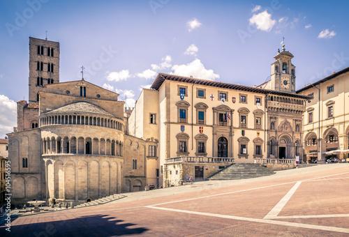 Piazza Grande in Arezzo, Italy Canvas Print