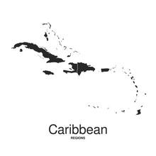 The Caribbean Islands Regions Map