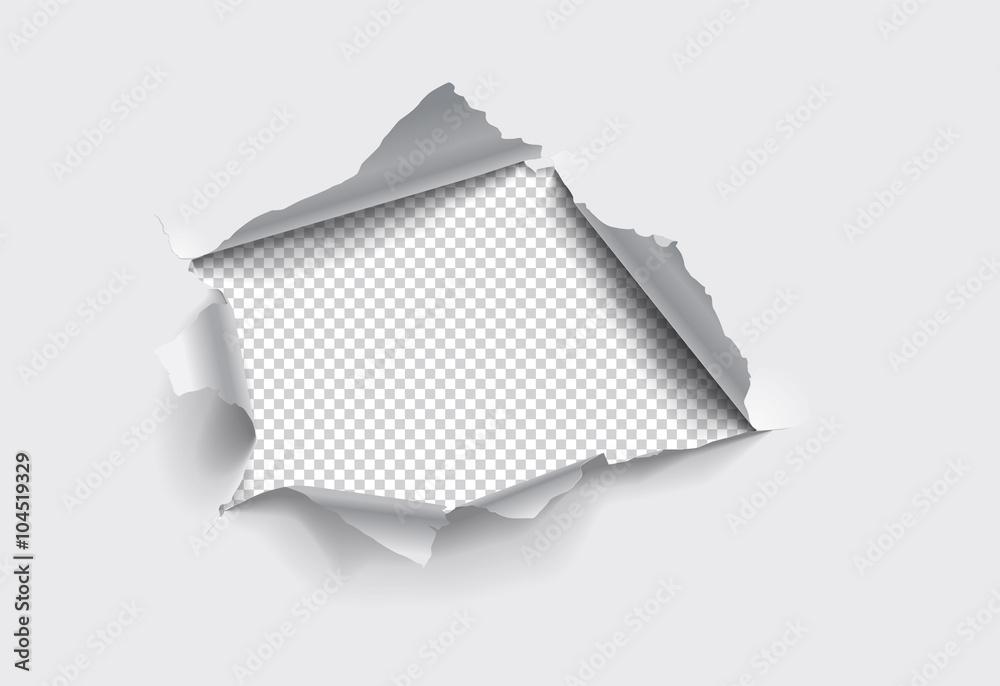 Fototapeta Hole in paper