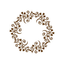 Beautiful Circle Ornament. Decorative Frame. Vector Illustration.