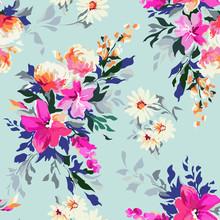 Bright Floral Print ~ Seamless...