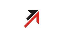 Arrow Up Shape Logo