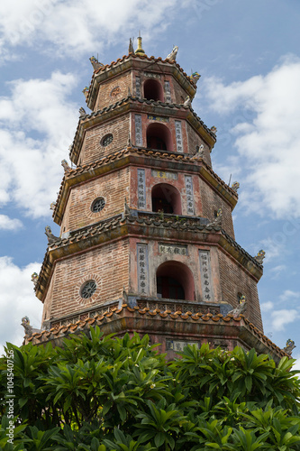 Photo  Thien Mu Pagoda in Hue,  Vietnam