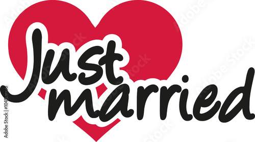 Fotografie, Obraz  Just married