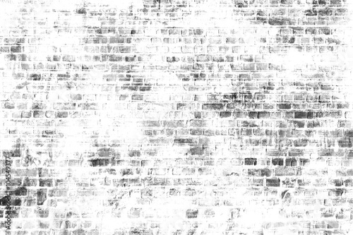 Poster de jardin Graffiti Black and white wall painting art, inspirational background image.