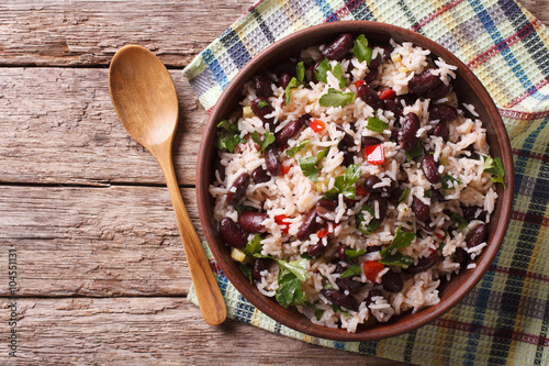 Fotografie, Obraz  Rice with red beans and vegetables in a bowl