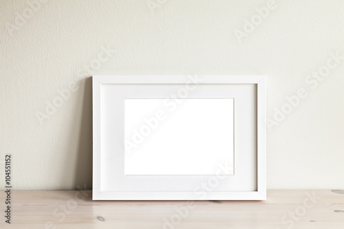 Horizontal white frame mockup - Buy this stock photo and explore ...