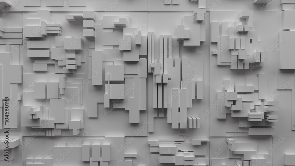 3D futuristic abstract industrial background