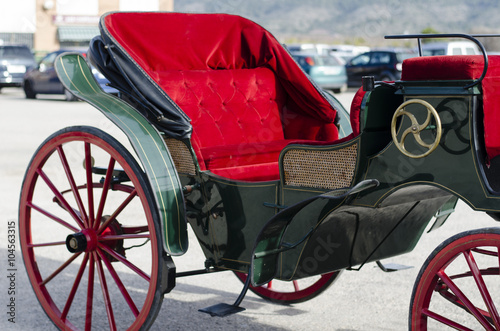 Canvas Print Detailed view of antique carriage
