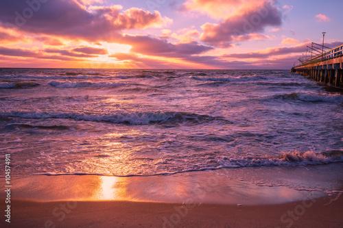 Fototapety, obrazy: Sunset over sea