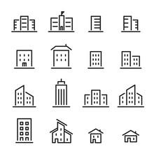 Building Line Icon