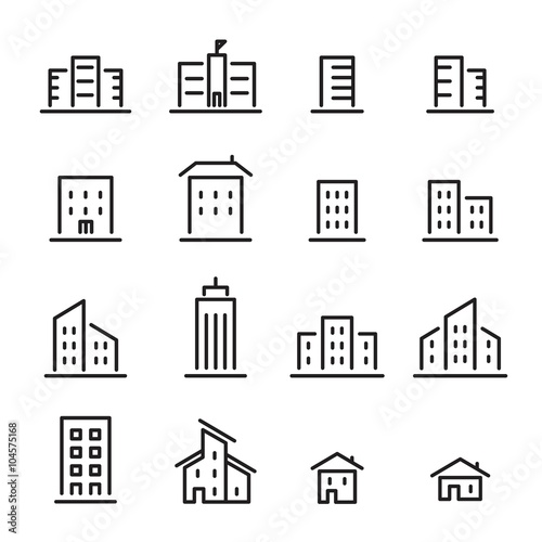 building line icon Wall mural